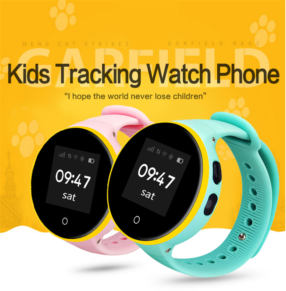 S669 enfants montre intelligente 1.22 pouces montre-bracelet bébé Tracker moniteur GPS SOS support carte SIM enfants Smartwatch téléphone