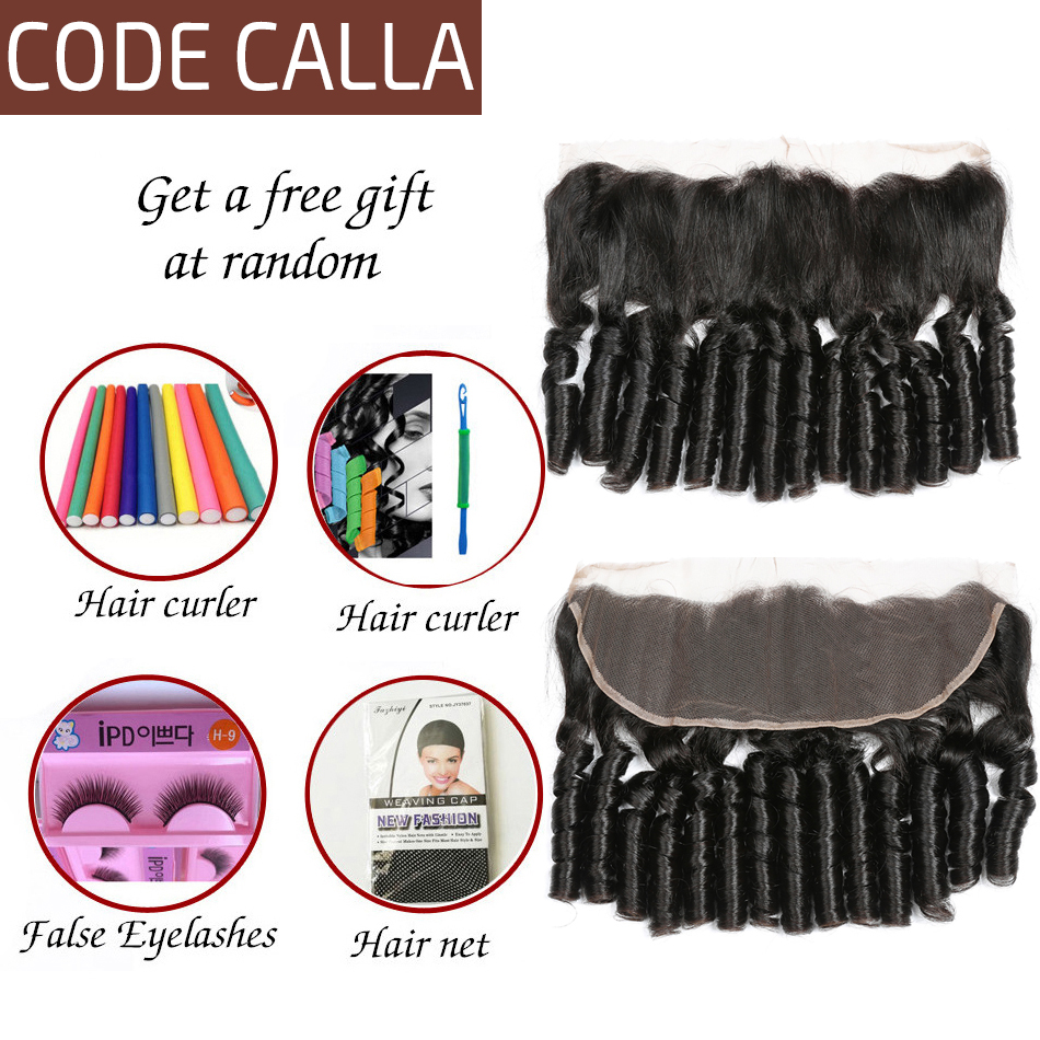 Code Calla Ombre Color Bouncy Curly Hair Bundles With Lace Frontal Free Part Brazilian Raw Virgin 100 Unprocessed Human Hair in Salon Bundle Pack from Hair Extensions Wigs