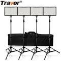 Travor 4 в 1 160 студийный свет затемняемая камера световая панель цифровая фотокамера DSLR Видеокамера фотография свет с 4 батареями