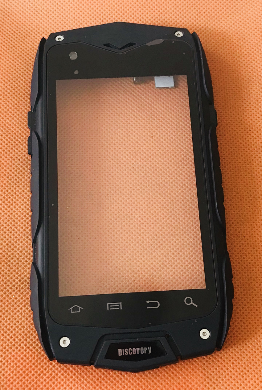 Used Original Touch Screen Touch Panel + Frame For Discovery V11 Guophone V11 MTK6582 Quad Core Free Shipping