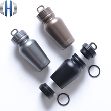 Outdoor Medicine Bottle Aluminum Alloy Survival Pills Full Waterproof Cans Sealed Capsule Bottles EDC Equipment