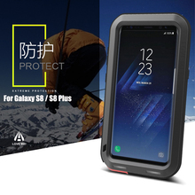 LOVE MEI Brand Aluminum Metal Case For Samsung Galaxy S8 (5.8 inch) Shockproof Armor Rugged Cover Waterproof Shell