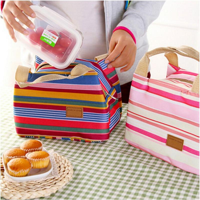Lunch Box Lonchera Loncheras Lunchbox Lancheira Escolar Infantil Termica Lunchbag Waterproof Boxs Cartoon Canvas Bag