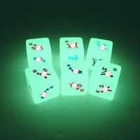 6Pcs/lot Glow In The Dark Erotic Dice Night Lights Noctilucent Sexy Love Dice Sex Toy for Adult Games 19mmx19mm