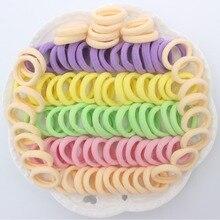 100 шт./лот, детское кольцо для волос, веревка на голову для девочек, розовый, бежевый, фиолетовый светильник, зеленый и желтый светильник, аксессуары для волос для детей CT056