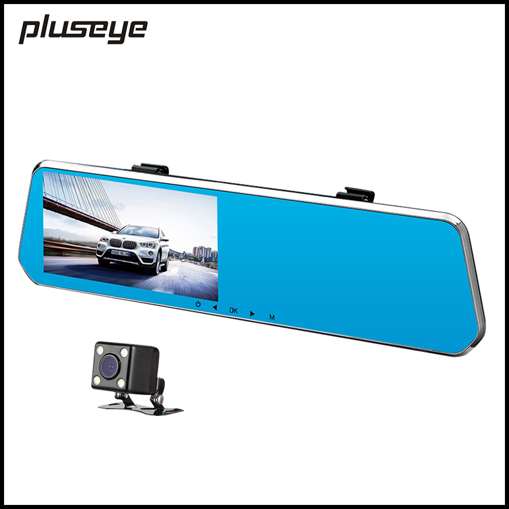 Dual Cameras Rearview Mirror DVR Full Band Radar Detector 1080P Car Video Recorder HD Dash Cam