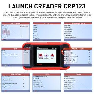 Image 4 - LAUNCH X431 CRP123 OBD2 EOBD automotive scannerABS Airbag SRS Transmission Engine Car Diagnostic Tool Multilingual free update