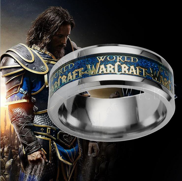 2016 New World of Warcraft World of Warcraft Movie Game Wholesale Stainless Steel Rings image