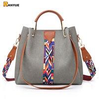2Pcs Nubuck Leather Bags Handbags Women Bag Set Famous Brands Big Casual Tote Women Shoulder Bags