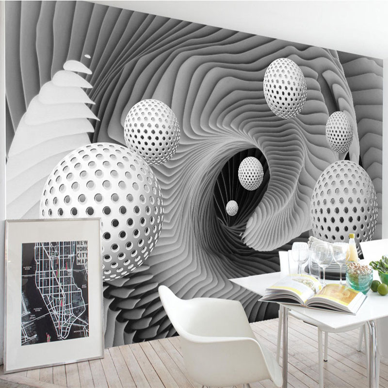 Wallpapers Custom 3d Wall Mural Wallpaper Modern Abstract Sphere Space Whirlpool Art Wall Painting Living Room Tv Backdrop Wall Papers Roll Packing Of Nominated Brand Home Improvement