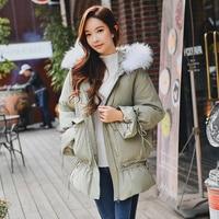 Dabuwawa Winter Hooded Fur Collar Down Coats for Girls Women Warm Thick Pleated Fashion Elegant Down Jacket D18DDW056