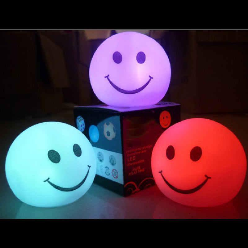 Новинка, изменение цвета, светодиодный ночник, волшебный круг, улыбка, цветная лампа, QP2