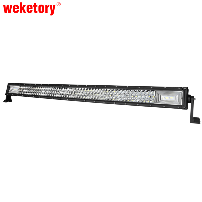 weketory 3 Rows 42 inch LED Work Light Bar for Tractor Boat OffRoad 4WD 4x4 Car Truck SUV ATV 14 120w offroad led light bar atv yacht boat truck trailer tractor car suv 4wd 4x4 camping work lamp 12v 24v auto headlight