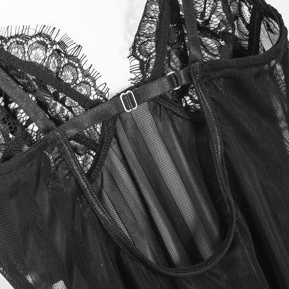 Пикантный кружевной шнурок обтягивающее Женское боди с вырезами Черный Комбинезон Боди женский комбинезон сетчатые костюмы пляжного типа с открытой спиной 2018 белый