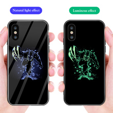 ciciber Phone Case For iphone 11 Pro Max XS MAX X XR Luminou Glass Cover for Iphone 7 8 6 6S Plus Marvel Deadpool Funda Coque ciciber dragon ball phone case for iphone 11 pro max xr x xs max tempered glass cover cases for iphone 7 8 6 6s plus funda coque