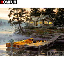 HOMFUN Full Square/Round Drill 5D DIY Diamond Painting House landscape Embroidery Cross Stitch 5D Home Decor Gift A17879 homfun full square round drill 5d diy diamond painting house landscape embroidery cross stitch 5d home decor gift a18092