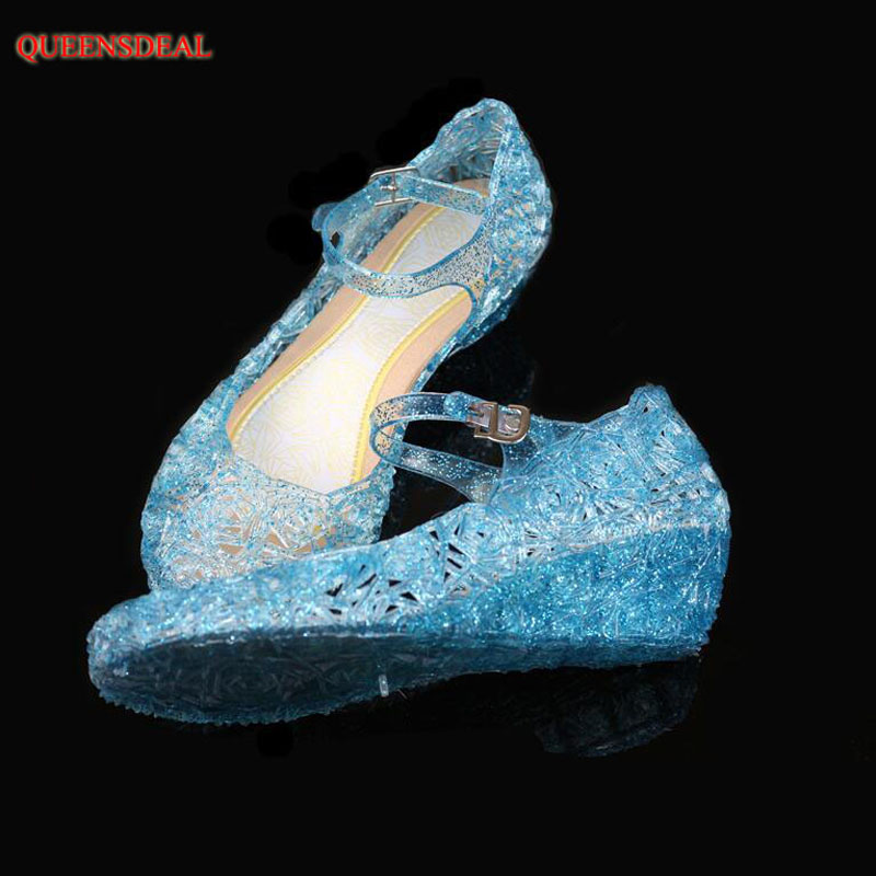 9ba2aa23b2b Detail Feedback Questions about Children Girl Casual Sandals For Anna Elsa Jelly  princess Dress up Cosplay Baby Shoes Girls Jelly Shoes on Aliexpress.com ...