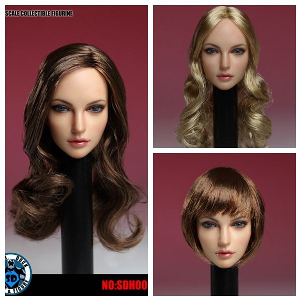 SUPER DUCK SDH005 1 6th American European Head Model for PH Pale Color Body Action Figure