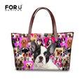 Mujeres de la Marca famosa Bolsas Mano Zoo Animal Bulldog Francés Bolsos para Dama Comercial Paquete de Viaje de Gran Capacidad Bolsas de Mensajero