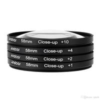 Free Shipping Tracking Number 58mm MACRO Close Up 1 2 4 10 LENS Filter Close Up