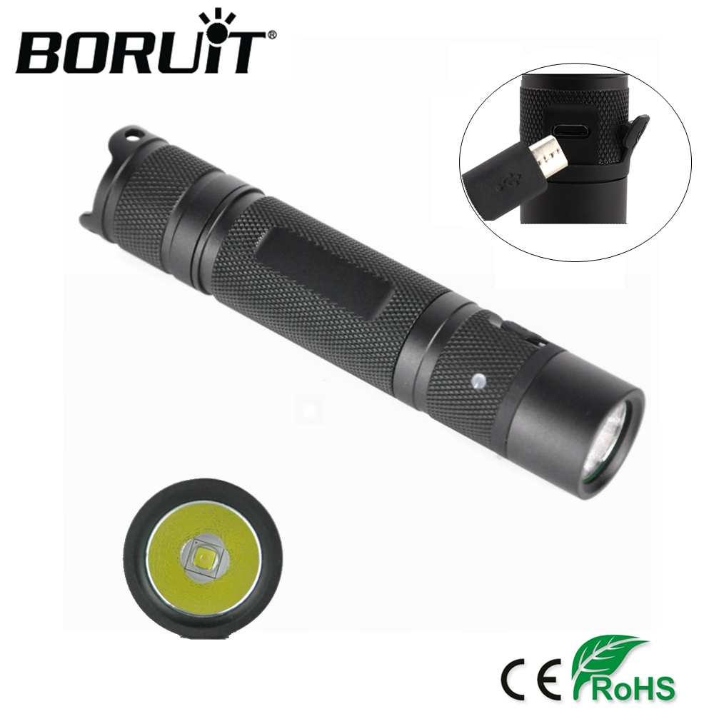 BORUiT XML U2 Mini LED Flashlight 3-Mode USB Rechargeable Torch IPX-8 Camping Flash Light Portable Penlight by 18650 Battery sitemap xml page 8