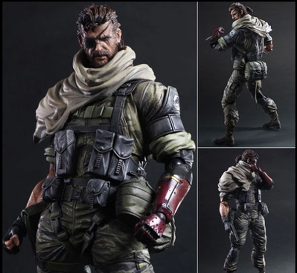 26CM Play Arts KAI Metal Gear Solid V The Phantom Pain Iroquois Pliskin Old Snake PVC Action Figure Collectible Model Toy 15A play arts kai street fighter iv 4 gouki akuma pvc action figure collectible model toy 24 cm kt3503