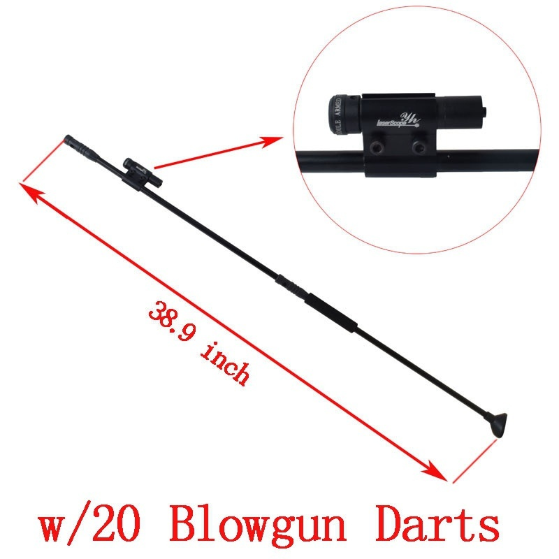 Hunting Blowgun Black Version BLOWGUN With Tactical Red Dot Laser Sight And 10pcs Blowgun Darts For Outdoor Sports Activities