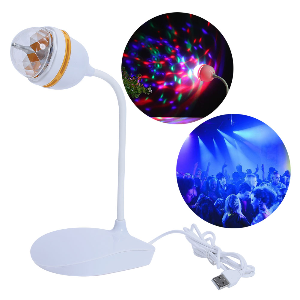 Mini Portable USB Powered LED Crystal Magic Ball Stage Light Effect DJ Party Disco Party Birthday Festival Club Light mini rgb led party disco club dj light crystal magic ball effect stage lighting