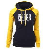 Female Sweatshirts 2017 New Arrival Autumn Winter Fleece Hoodies Women Raglan Pullover Print STAR S T