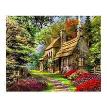 Full Square Drill 5D DIY Diamond Painting Village scenery 3D Embroidery Cross Stitch Rhinestone Mosaic Decor цена
