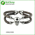 BC Cool Navy Gray Bracelet Python Leather,High End Luxury Bracelet for Business Men Gift Free Shipping BC-0072