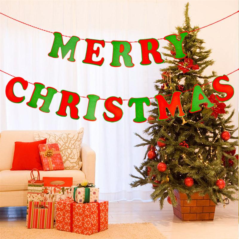merry christmas letter banners photo prop bunting garland hanging decoration xmas tree ornaments home party christmas decor in banners streamers confetti