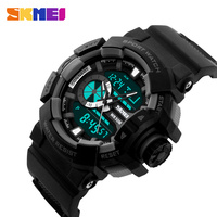 2016 New SKMEI Brand Men Military Sport Watches Fashion Digital Analog LED Outdoor Wristwatches Army Casual