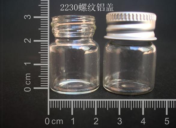 10 pcs 5ml 22x30mm Small Clear Glass Bottle Vial Pendant With Aluminum Lid For Wedding Holiday Decoration Christmas Gifts