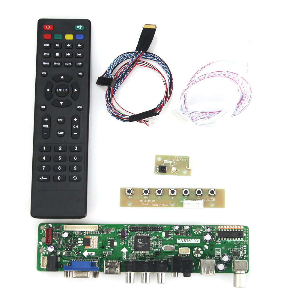 T.VST59.03 For LP125WH2(SL)(B3) LCD/LED Controller Driver Board (TV+HDMI+VGA+CVBS+USB) LVDS Reuse Laptop 1366x768 lcd led controller driver board for b156xw02 ltn156at02 t vst59 03 tv hdmi vga cvbs usb lvds reuse laptop 1366x768