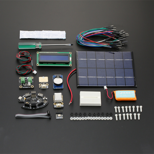 Free shipping diy intelligent weather station kit for