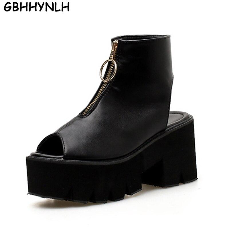 GBHHYNLH strappy sandals gladiator women shoes peep toe high heels black sandals summer shoes platform sandals