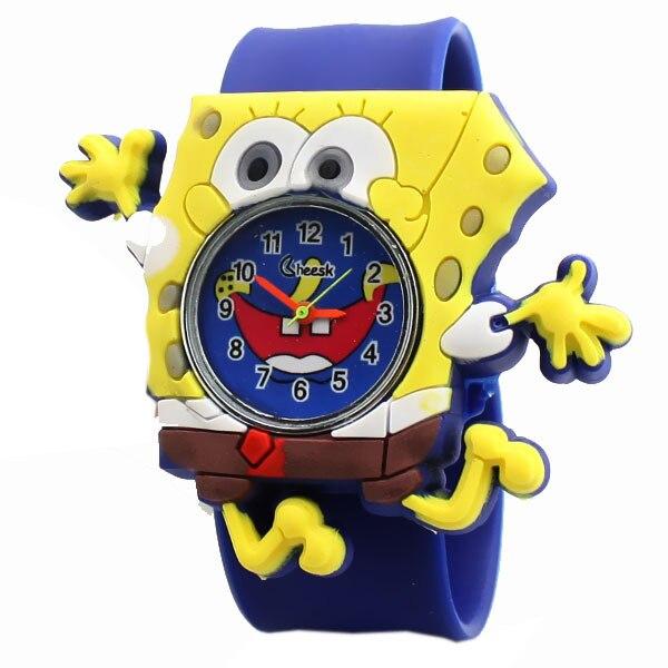 8442d554761 wholesale boys children s Clock tape multicolor pat jelly cute slap watch  men kids SpongeBob SquarePants explosion