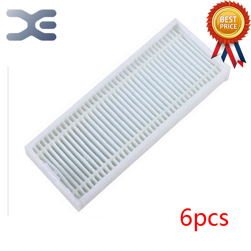 6 Pcs High Quality Ecovacs CEN360 Sweeping Machine Accessories Hepa Filter Vacuum Cleaner Parts