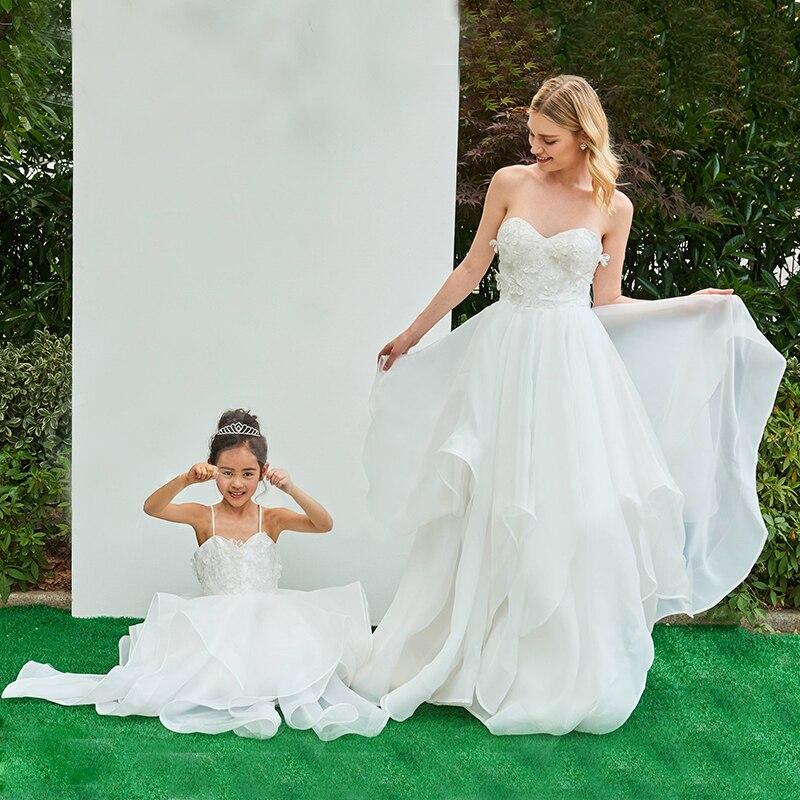 Вечерние платья для мамы и дочки, элегантная одежда, одинаковые наряды для семьи, свадебные платья для матери и дочери, сказочные платья