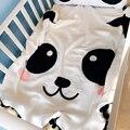 Bebé Muselina Swaddle Mantas de Algodón Bebé Panda Blanco Línea de Cubierta de Cama Manta Suave Transpirable Para Recién Nacido accesorios de Fotografía