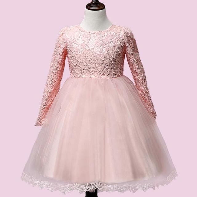 Rosa de Invierno niña de manga larga vestido de novia con arcos en ...
