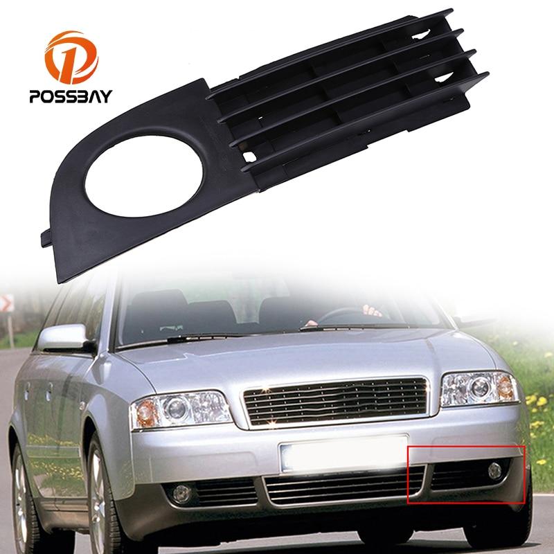 POSSBAY Car Styling ABS Front Fog Lamp Cover Head Fog Light Case Fit for Audi A6 C5 Sedan & Avant 2002200320042005 Facelift