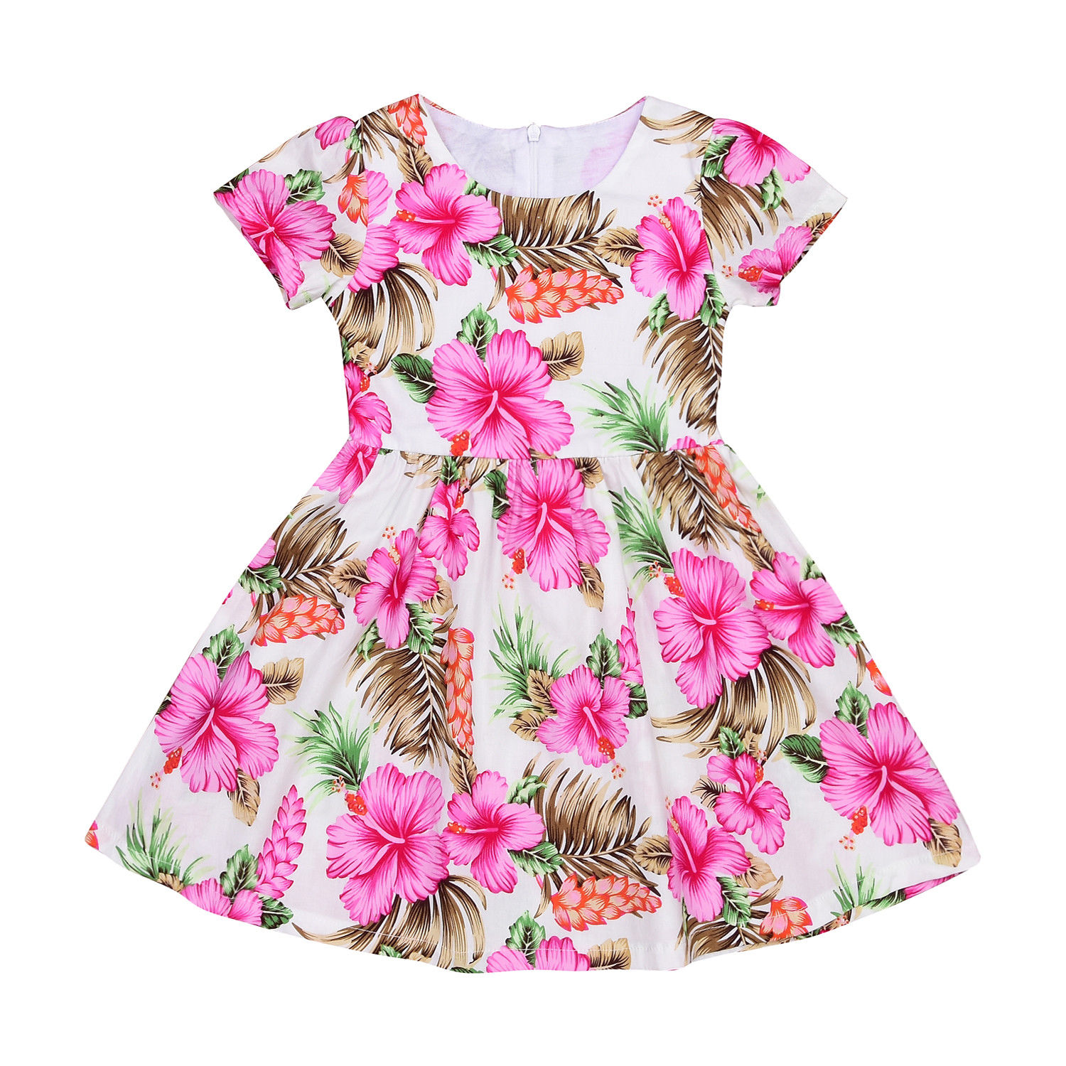 Kids Baby Girls Cotton Flower Party Prom Princess Pageant Wedding