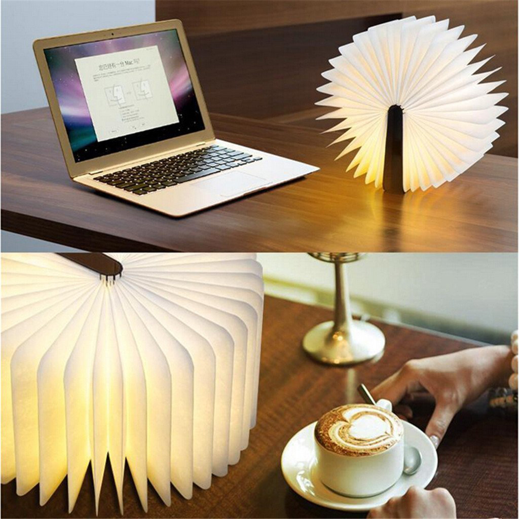 Party book folding LED book luminous light home decoration charge party night light decoration home decoration lights