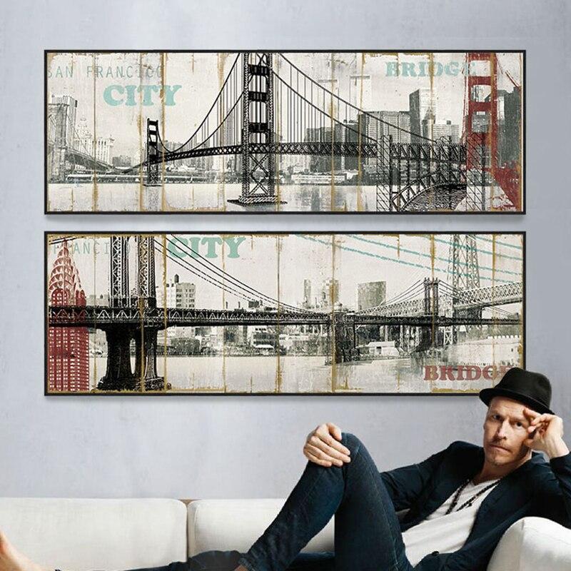 Ponte di brooklyn New York Ponte Stampa Della Bandiera stampe su ...