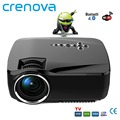 Crenova NEW 3D Android 4.4 Projector 1200 Lumens Support 1920x1080P Analog TV LED Projector Wifi Projector for Home Cinema