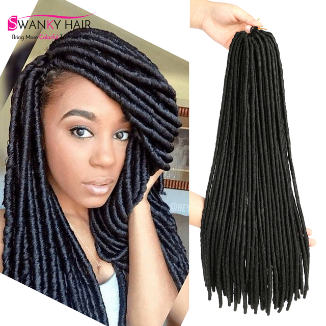18 Faux Locs Crochet Dreads Brown Hair Extensions 1b Color