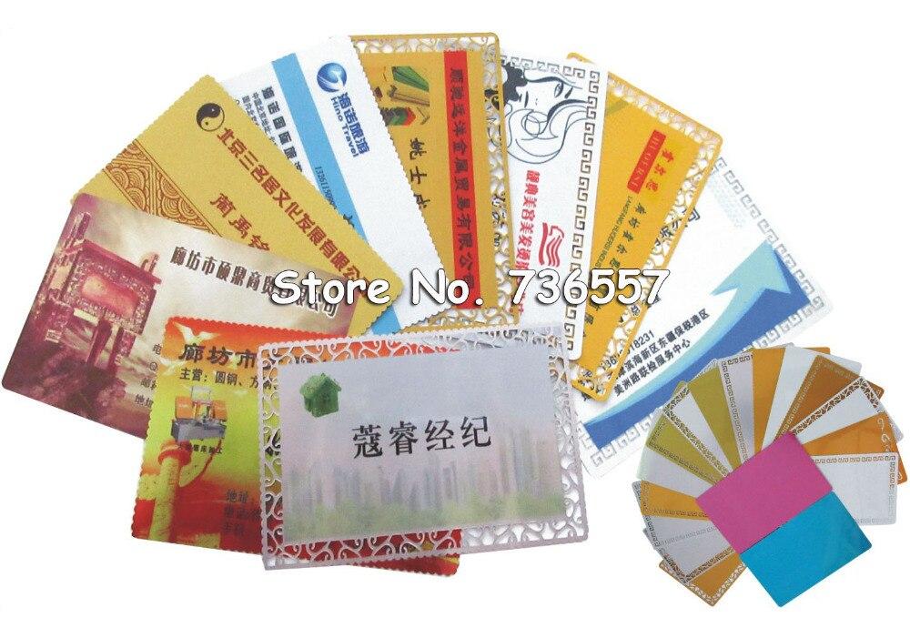 100 Pcs Blanc Sublimation Metal Nom Carte Impression De Visite Vierge Utiliser Encre