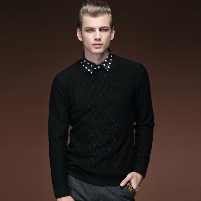 Envío de la Nueva personalidad de la moda masculina informal de Primavera O cuello suéteres hombres suéter camisa 15502 jóvenes en venta